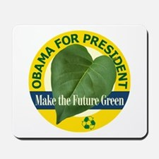 Obama Green Leaf Yellow Mousepad