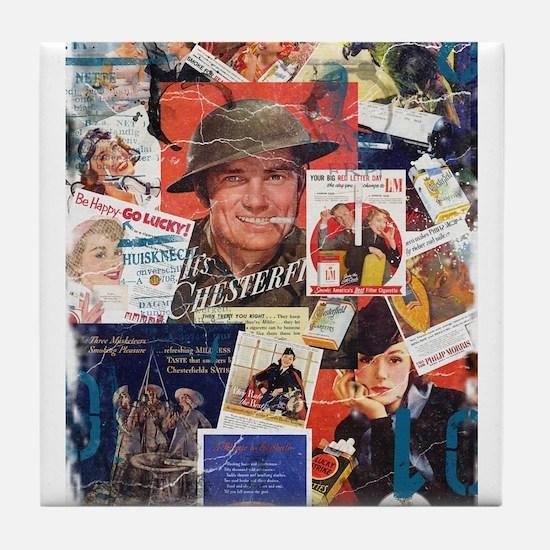 Destroyed Vintage Cigarette Advertising Tile Coast