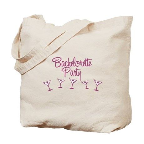 Pink Multi Bachelorette Party Tote Bag