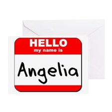 Hello my name is Angelia Greeting Card