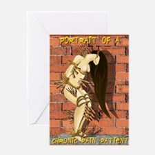 Portrait Of Chronic Pain Greeting Card