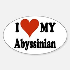 Abyssinian Oval Decal
