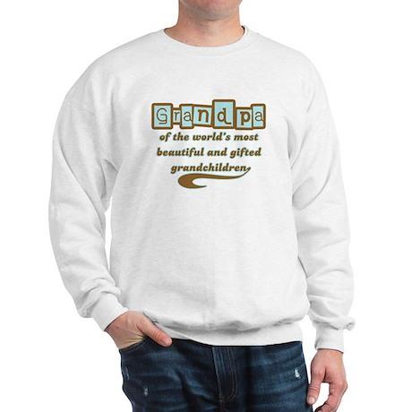 Grandpa of Gifted Grandchildren Sweatshirt
