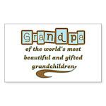 Grandpa of Gifted Grandchildren Sticker (Rectangle