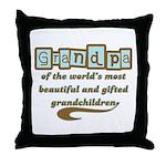 Grandpa of Gifted Grandchildren Throw Pillow