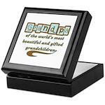 Grandpa of Gifted Grandchildren Keepsake Box