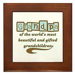 Grandpa of Gifted Grandchildren Framed Tile