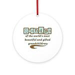 Grandpa of Gifted Grandchildren Ornament (Round)