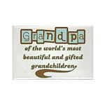 Grandpa of Gifted Grandchildren Rectangle Magnet (