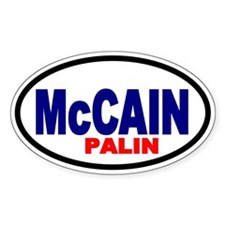 McCain-Palin '08 Oval Decal