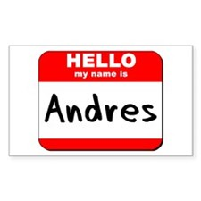 Hello my name is Andres Rectangle Decal