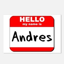 Hello my name is Andres Postcards (Package of 8)