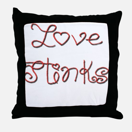 Cute Love stinks Throw Pillow