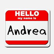 Hello my name is Andrea Mousepad