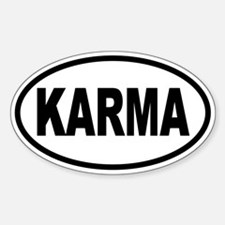 KARMA Oval Oval Decal