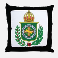 Brazil Empire Coat of Arms Throw Pillow