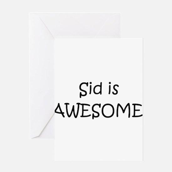 Cute Sid Greeting Card