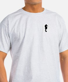 Seahorse\Take Only Pics (pocket) Ash Grey T-Shirt