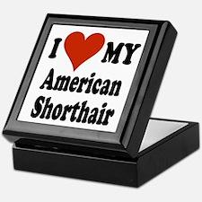 American Shorthair Keepsake Box