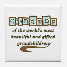 Grandpop of Gifted Grandchildren Tile Coaster