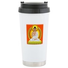 Orange Buddha Travel Coffee Mug