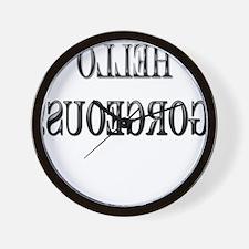 Cute Backwards Wall Clock