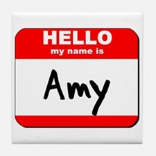 Hello my name is Amy Tile Coaster