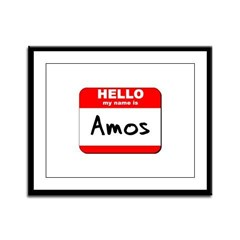 Hello my name is Amos Framed Panel Print