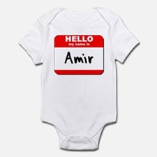 Hello my name is Amir Infant Bodysuit