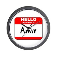 Hello my name is Amir Wall Clock