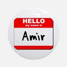 Hello my name is Amir Ornament (Round)
