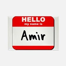 Hello my name is Amir Rectangle Magnet