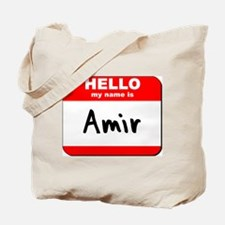 Hello my name is Amir Tote Bag
