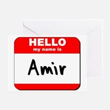 Hello my name is Amir Greeting Card