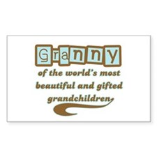 Granny of Gifted Grandchildren Rectangle Decal