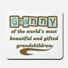 Granny of Gifted Grandchildren Mousepad