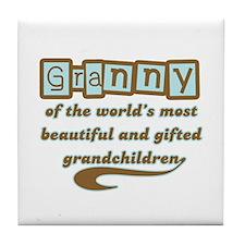 Granny of Gifted Grandchildren Tile Coaster