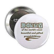 """Granny of Gifted Grandchildren 2.25"""" Button"""