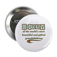 """Granny of Gifted Grandchildren 2.25"""" Button (10 pa"""