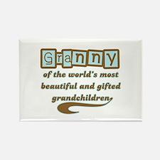 Granny of Gifted Grandchildren Rectangle Magnet