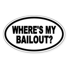 BAILOUT Oval Oval Decal