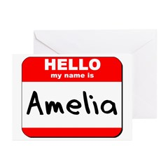 Hello my name is Amelia Greeting Cards (Pk of 20)