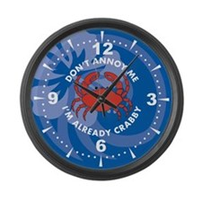 Dont Annoy Me Large Wall Clock