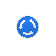 Roundabout Sign - Mini Button (100 pack)