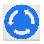 Traffic Circle Sign - Tile Coaster