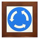 Traffic Circle Sign - Framed Tile