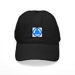Roundabout Sign - Black Cap