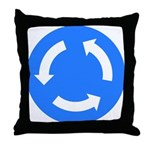 Traffic Circle Sign - Throw Pillow