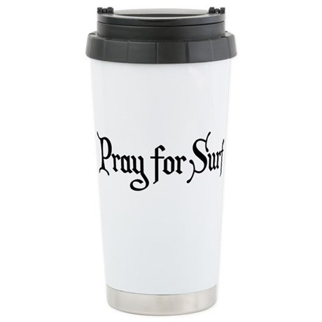 Pray for Surf Stainless Steel Travel Mug