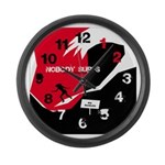 Nobody Surfs Like a Wahine Large Wall Clock